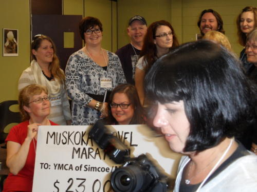 MNM cheque presentation to YMCA Simcoe/Muskoka for $23,000.