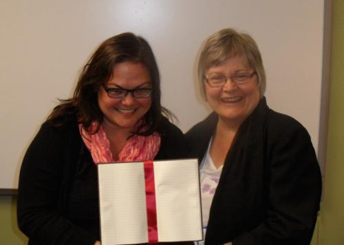 The two big winners...Tena Laing for Best MNM Adult Novel & Ruth Walker for the Best MNM YA Novel. Congratulations Girls!