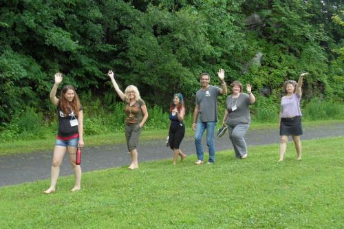 Barefoot Creativity Walk on Sunday with Sue Kenney (a former MNM'er).